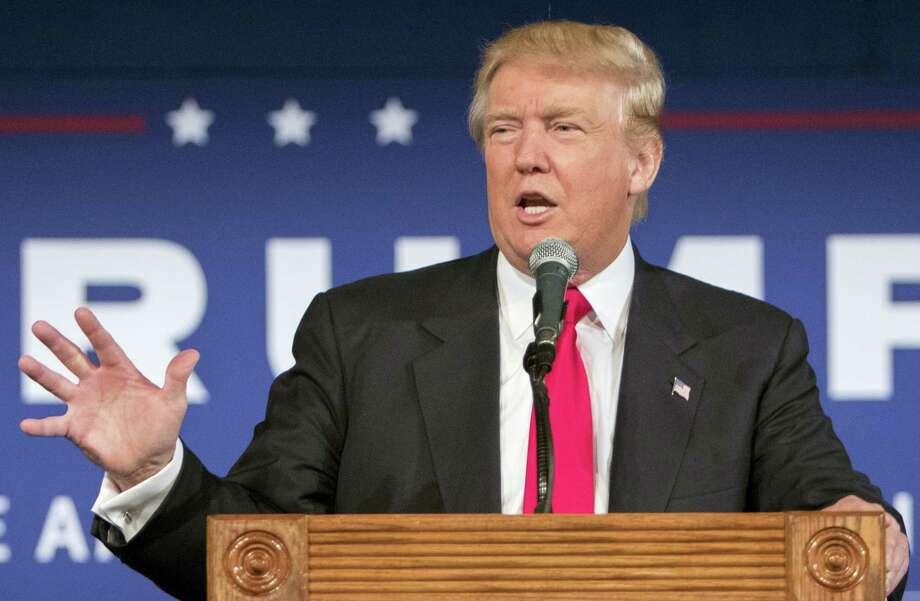 Republican presidential candidate Donald Trump Photo: FILE Photo   / FR56856 AP