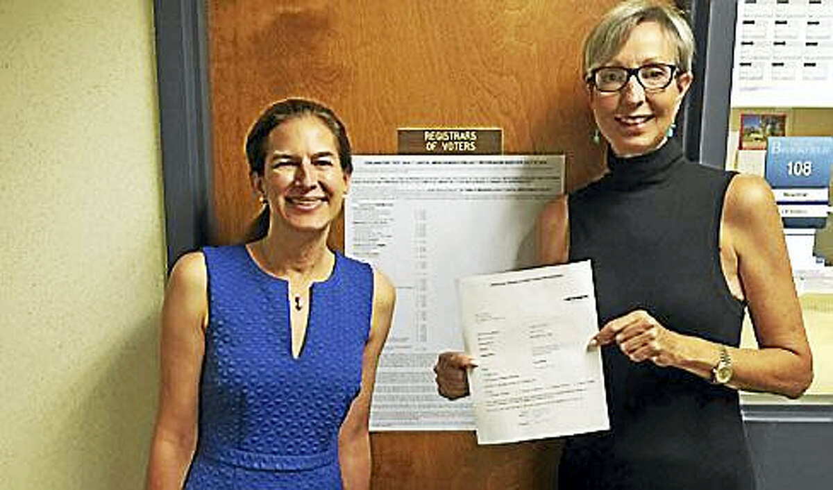 Former Secretary of the State Susan Bysiewicz and Jane Miller