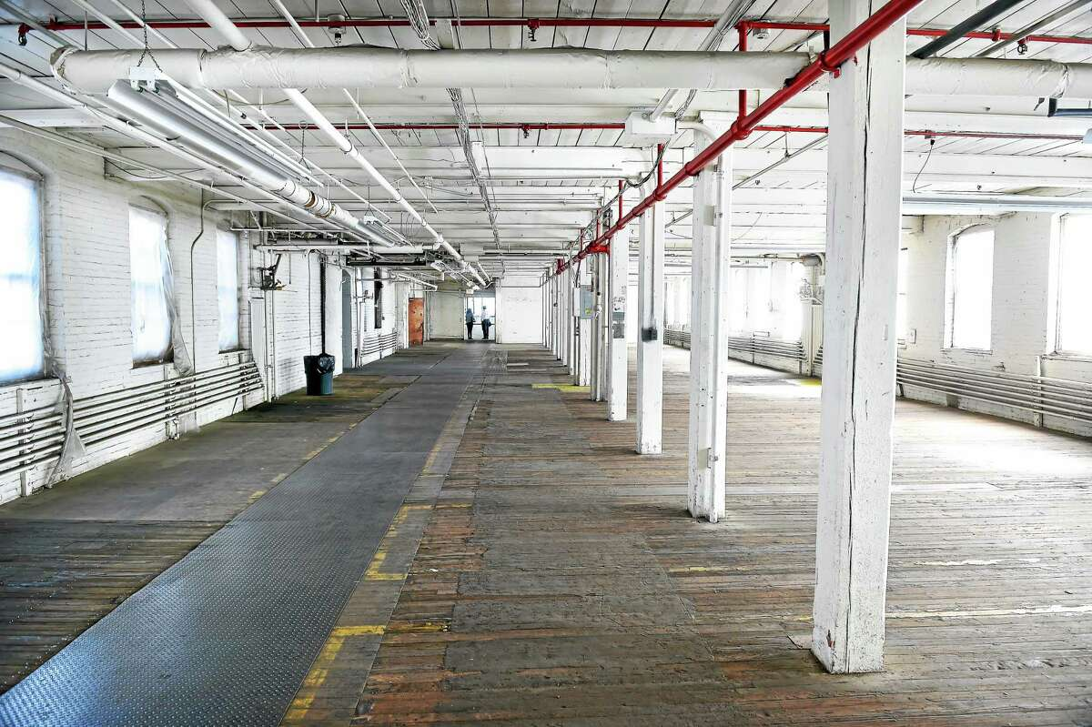 The interior of the former factory floor of Building 1 of C. Cowles Co. in New Haven.
