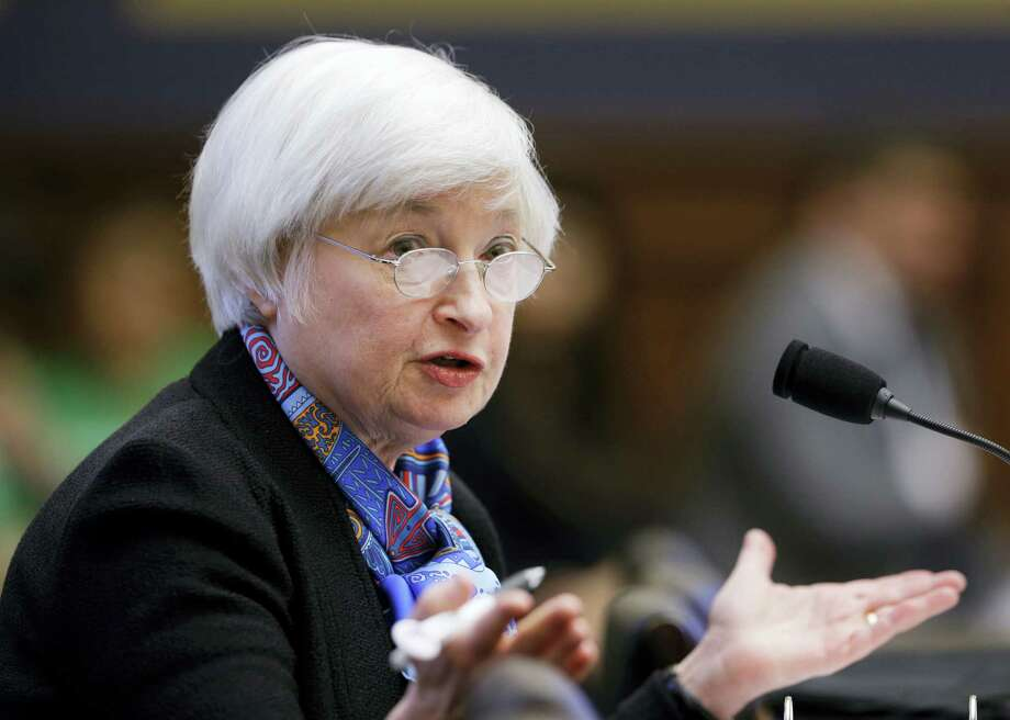 In June, Federal Reserve Chair Janet Yellen testifies on Capitol Hill in Washington, before the House Financial Services Committee hearing on U.S. monetary policy in July. Photo: FILE Photo   / Copyright 2016 The Associated Press. All rights reserved. This material may not be published, broadcast, rewritten or redistribu