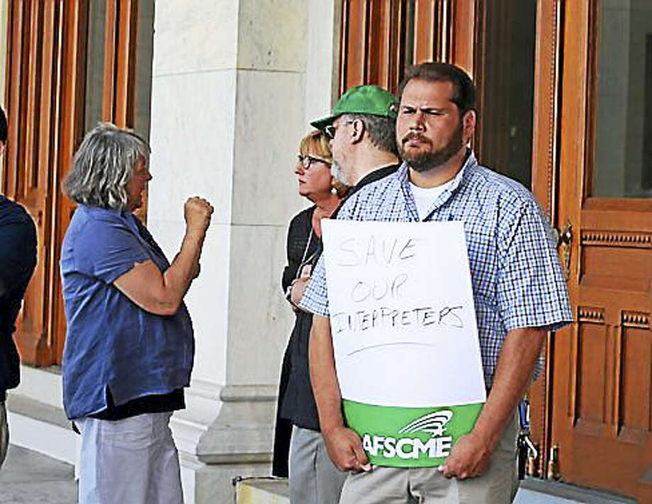 Rally to restore interpreter services Photo: Christine Stuart — CT News Junkie