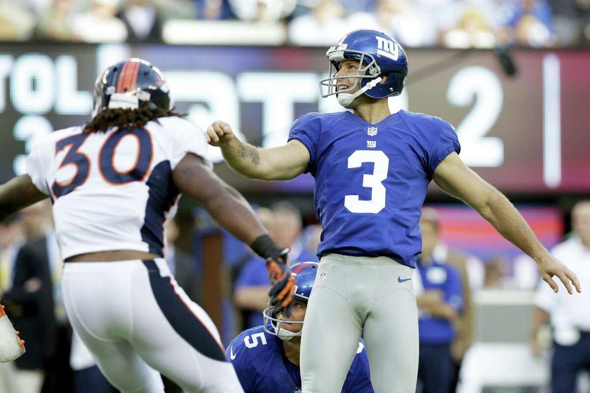 New York Giants kicker Josh Brown.