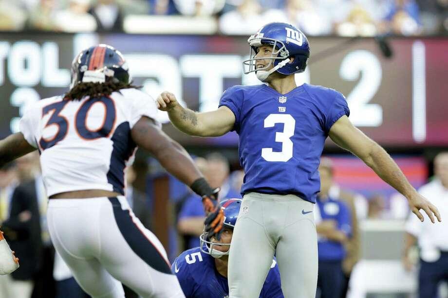 New York Giants kicker Josh Brown. Photo: The Associated Press File   / AP