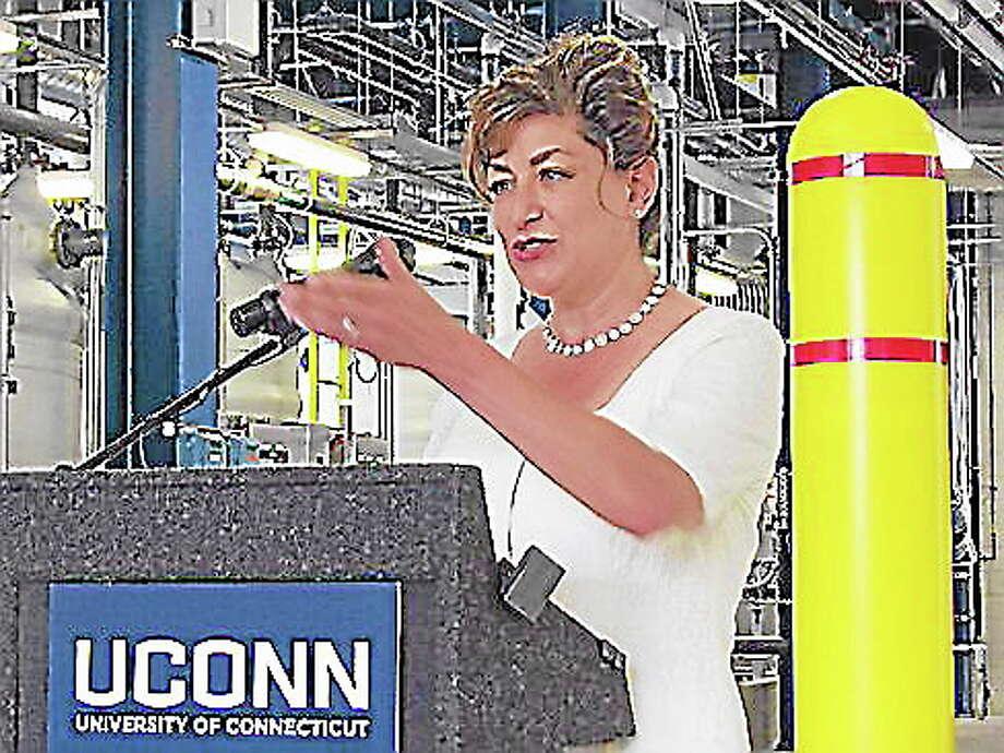 Jacqueline Wattles-CTNewsJunkie.com ¬ UConn President Susan Herbst Photo: Journal Register Co.