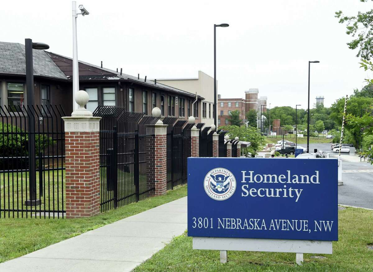 In this June 5, 2015 photo, a view of the Homeland Security Department headquarters in Washington. The U.S. government has mistakenly granted citizenship to at least 858 immigrants who had pending deportation orders from countries of concern to national security or with high rates of immigration fraud, according to an internal Homeland Security audit released Monday, Sept. 19, 2016.