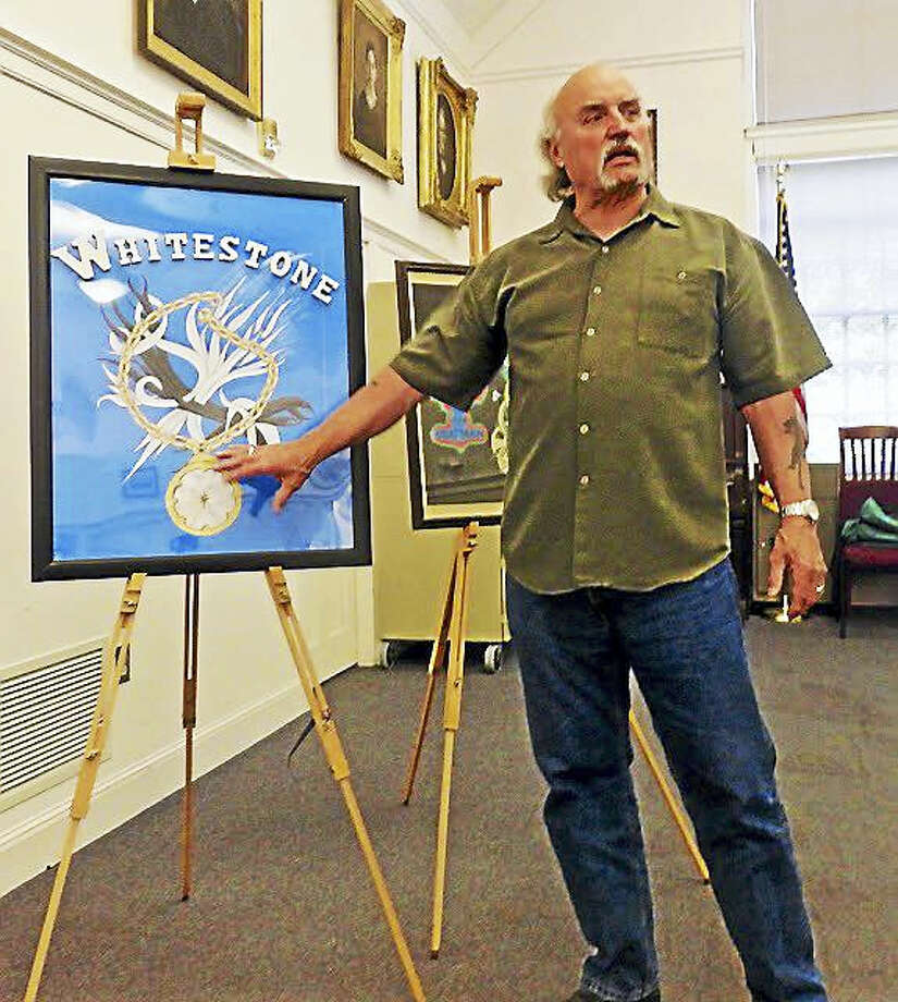"""Former Derby Police Chief Andrew L. Cota at a recent book talk. Photo: CONTRIBUTED PHOTO — <a Href=""""http://thevalley-voicect.blogspot.com/"""">PATRICIA VILLERS</a>"""