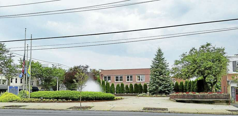 The trees planted at Freedom Park on Dixwell Avenue. Photo: Kate Ramunni — New Haven Register