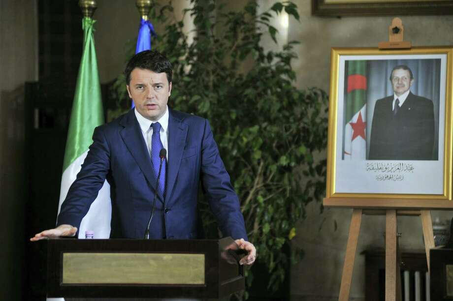 Italian Premier Matteo Renzi addresses the media during a joint press conference with his Algerian counterpart, Abdelmalek Sellal, in Algiers, Algeria, Dec. 2. Photo: Sidali Djarboub — THE ASSOCIATED PRESS   / AP