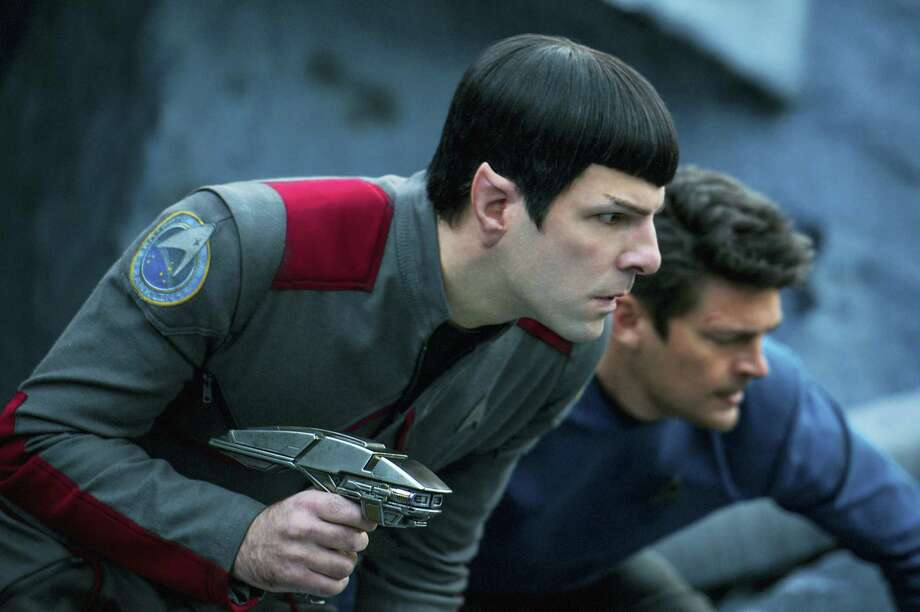 "In this image released by Paramount Pictures, Zachary Quinto, left, and Karl Urban appear in a scene from ""Star Trek Beyond."" Photo: Kimberley French/Paramount Pictures Via AP   / © 2016 Paramount Pictures. All Rights Reserved. STAR TREK and all related marks and logos are trademarks of CBS Studios, Inc."