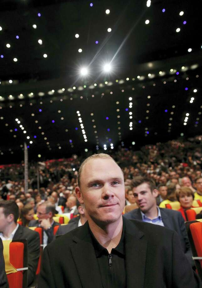 2016 Tour de France winner Chris Froome of Britain attends the presentation of the 2017 Tour de France cycling race in Paris, France on Oct. 18, 2016. The race will start on July, 1, 2017 with a prologue in Dusseldorf, Germany, and counts 20 stages. Photo: AP Photo/Christophe Ena   / Copyright 2016 The Associated Press. All rights reserved.