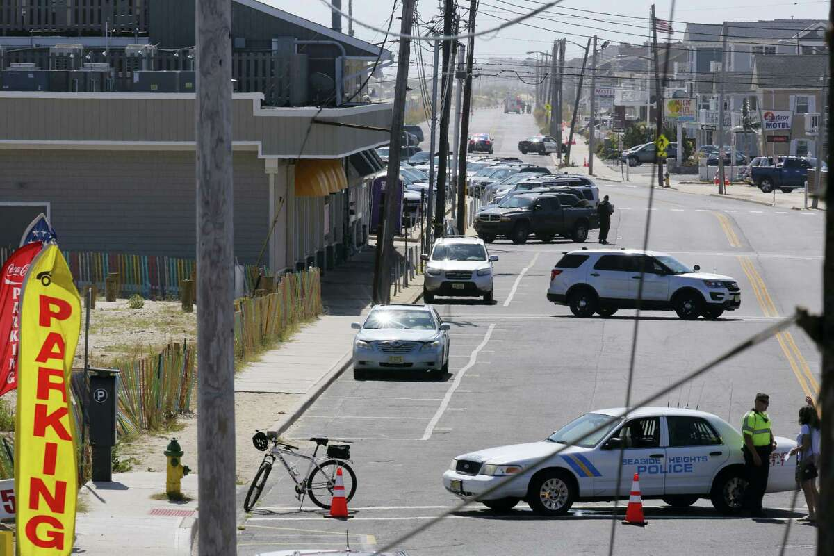 A charity race for military soldiers was canceled and roads in Seaside Park, N.J. were closed after an explosive device detonated in a garbage pail before the start of the event on Saturday, Sept. 17, 2016.