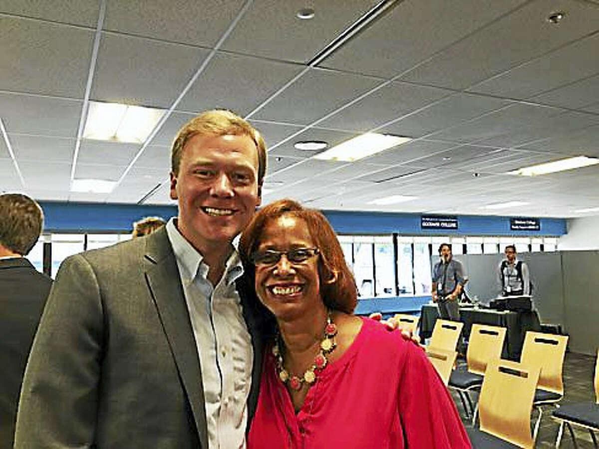 Reps. Matt Ritter of Hartford and Toni Walker of New Haven