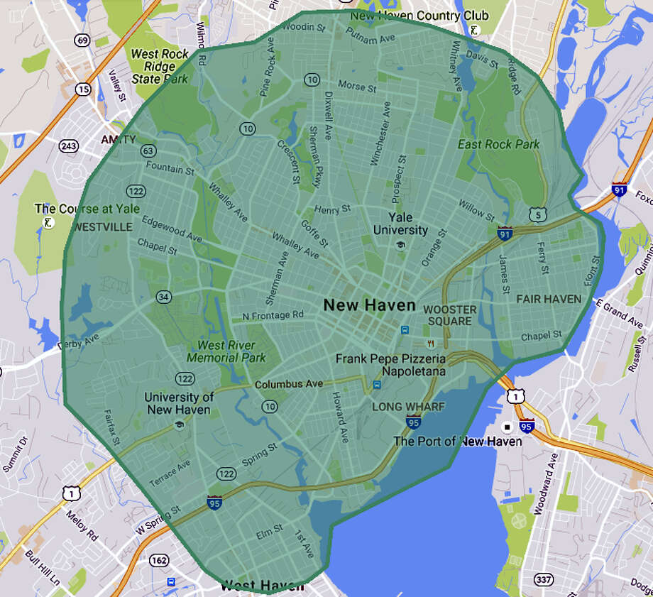 UberEats' current coverage area map, which will grow as more restaurants are added weekly. Photo: CONTRIBUTED PHOTO