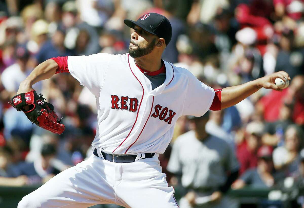 Boston's David Price pitches during the first inning against the New York Yankees at Fenway Park Saturday. Register columnist Chip Malafronte believes Price is a big part of what should be another World Series championship.