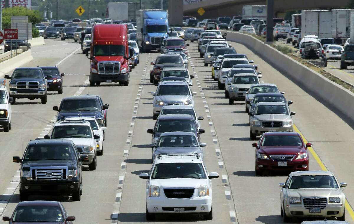 In this Friday, July 1, 2016, file photo, drivers work their way out of Dallas during rush hour. Motorists in parts of the country could pay a little more for gasoline in coming days because of the shutdown of a leaking pipeline in Alabama. Near Birmingham, Ala., work crews were trying Friday, Sept. 16, 2016, to repair the pipeline. Georgia-based Colonial Pipeline said most of the spilled gasoline has been corralled in a retention pond, and it downplayed any threat to public safety. It'Äôs not clear when the leak started. It was detected Sept. 9.