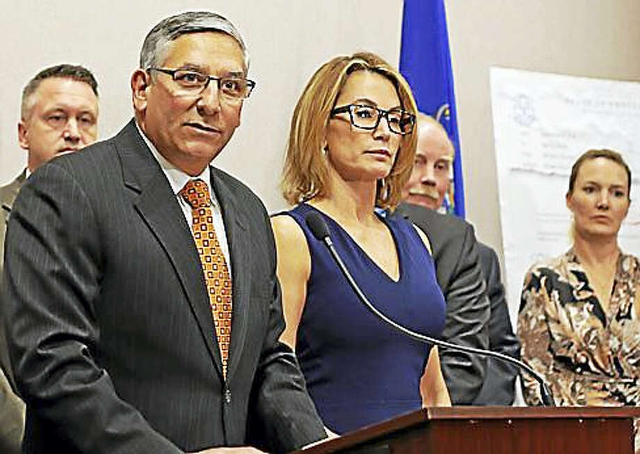 State Senate Republican leader Len Fasano and House Republican leader Themis Klarides. Photo: Christine Stuart — CTNewsjunkie.com