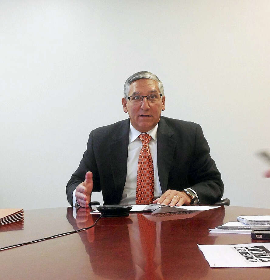 Connecticut state Senate Minority Leader Len Fasano, R-North Haven, speaks to the Register editorial board. Photo: NEW HAVEN REGISTER
