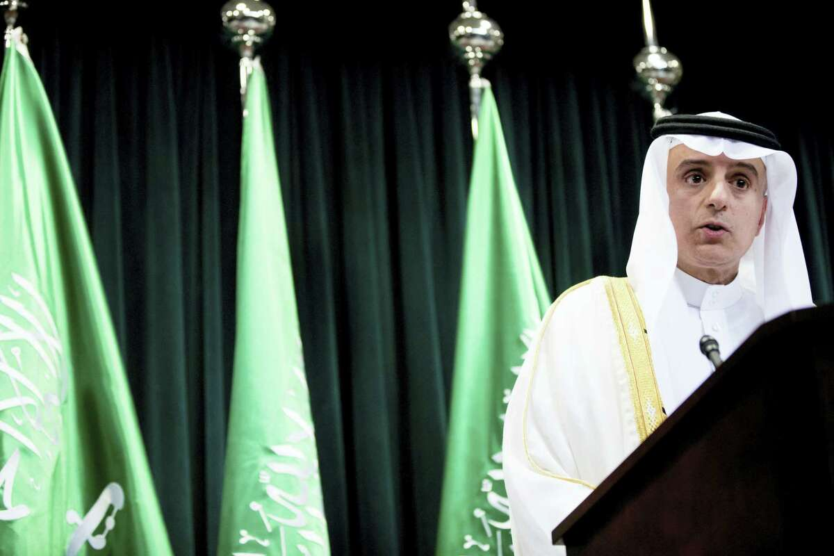Saudi Arabia Foreign Minister Adel al-Jubeir speaks at a news conference at the Saudi Arabian Embassy in Washington, Friday, July 15, 2016, after the U.S. released once-top secret pages from a congressional report into 9/11 that questioned whether Saudis who were in contact with the hijackers after they arrived in the U.S. knew what they were planning.