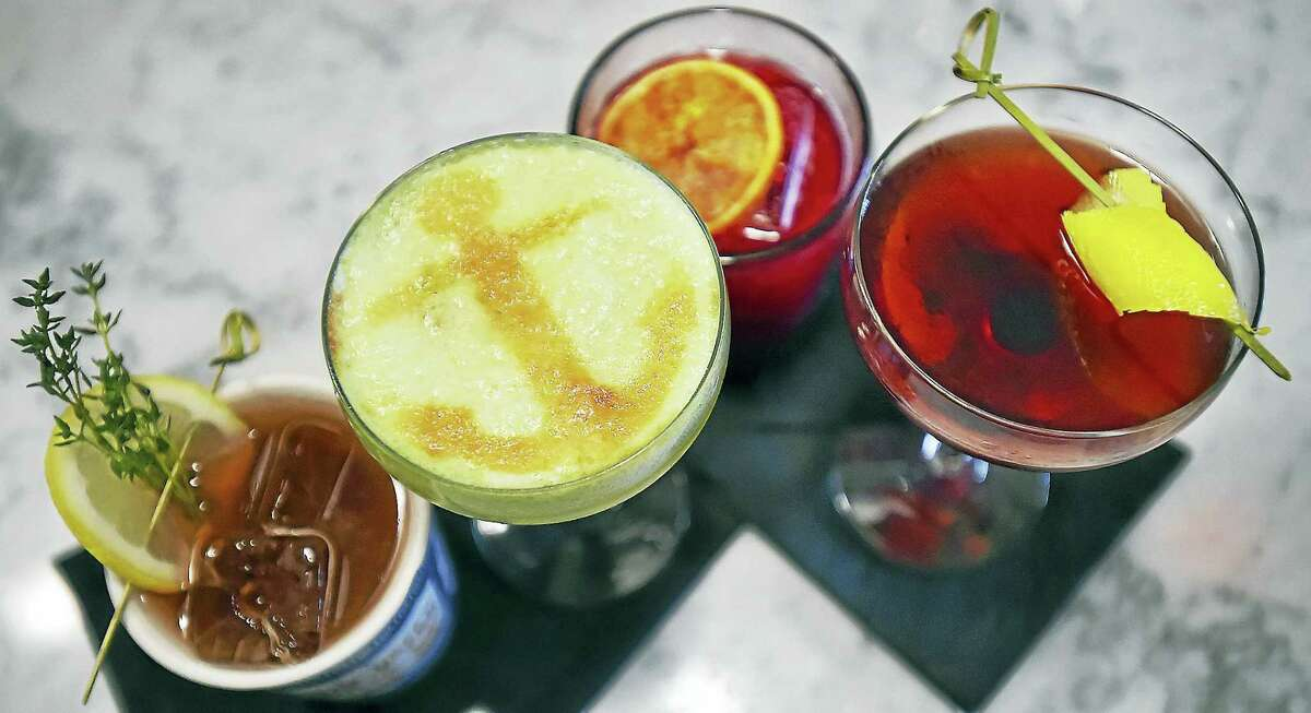 Four signature drinks at Anchor Spa.