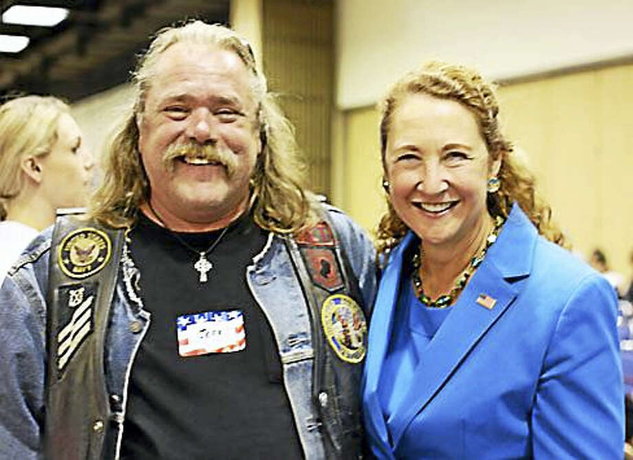 Jeff Lawton and U.S. Rep. Elizabeth Esty Photo: Christine Stuart Photo