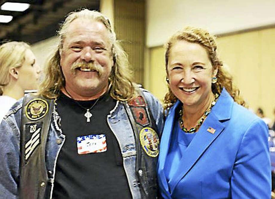 Jeff Lawton and U.S. Rep. Elizabeth Esty Photo: Christine Stuart Photo