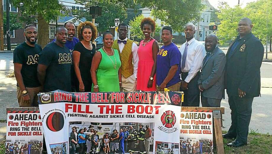 Members of the Black Greek Organizations, or the Divine Nine, will be  participating in the 24th annual sickle cell disease walk Sept. 19, 2015. Members include, from left, Alpha Phi Alpha, Delta Sigma Theta, Alpha Kappa Alpha, Omega Psi Phi, Phi Beta Sigma and Iota Phi Theta. Photo: FILE