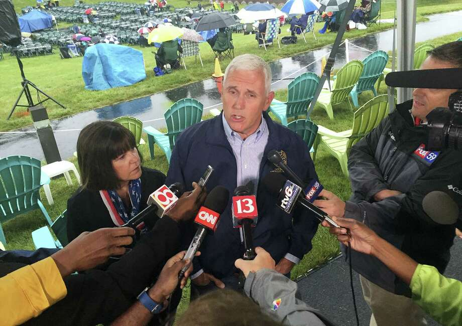 In this July 3, 2016, file photo, Indiana Gov. Mike Pence speaks during a news conference before attending Symphony on the Prairie for a Fourth of July concert in Fishers, Ind. Pence is one of several Republicans Trump is considering for his vice presidential running mate. Trump is expected to announce his decision on Friday. Photo: AP Photo/Michael Conroy, File    / Copyright 2016 The Associated Press. All rights reserved. This material may not be published, broadcast, rewritten or redistribu