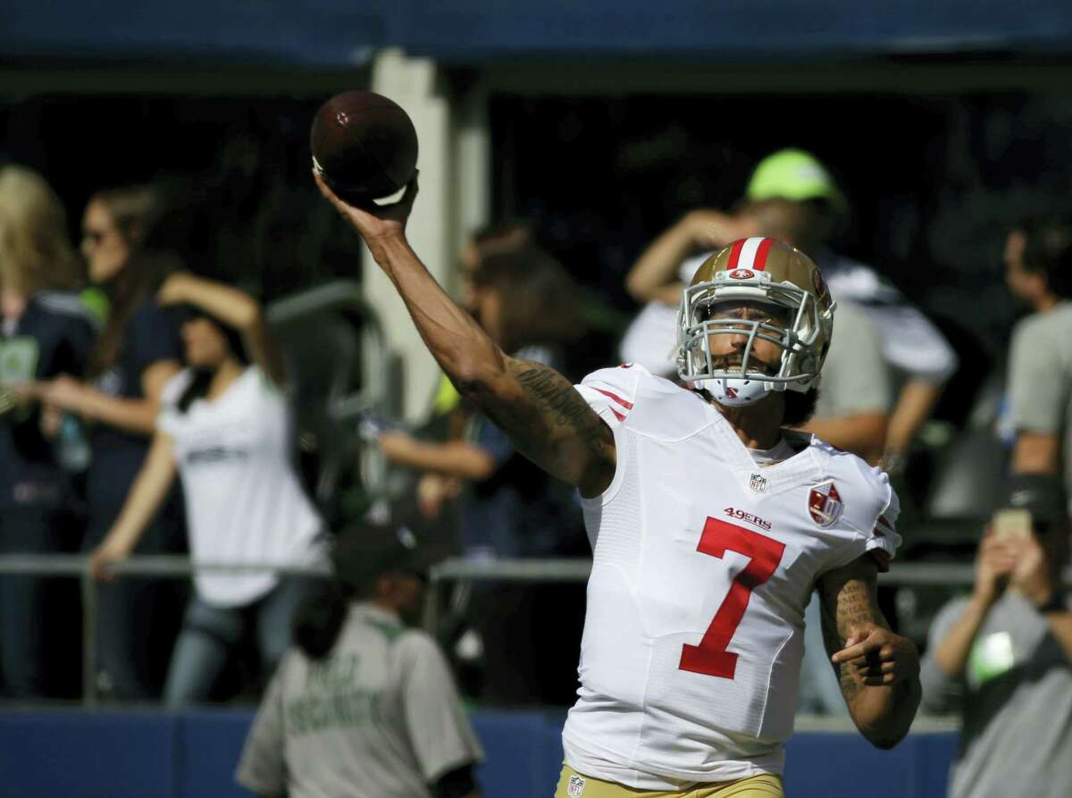 Quarterback Colin Kaepernick will get his first start of the season today against the Bills.