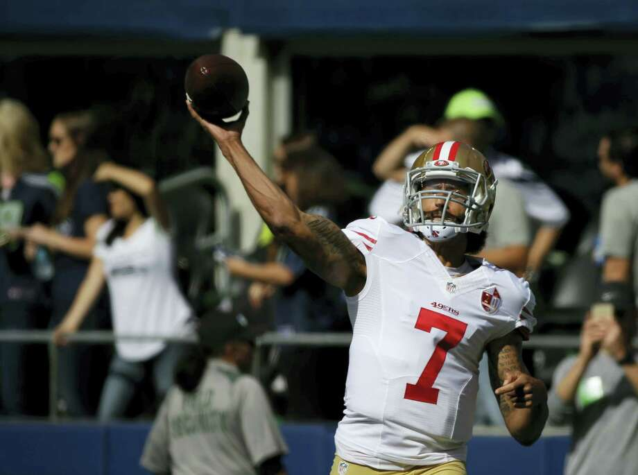 Quarterback Colin Kaepernick will get his first start of the season today against the Bills. Photo: Ted S. Warren — The Associated Press   / AP