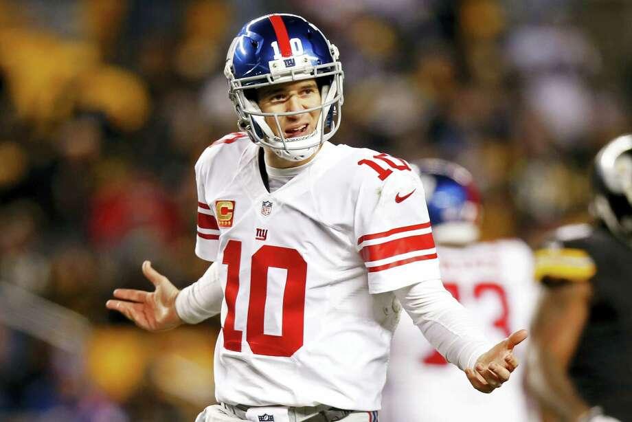 New York Giants quarterback Eli Manning. Photo: Jared Wickerham — The Associated Press   / FR171279
