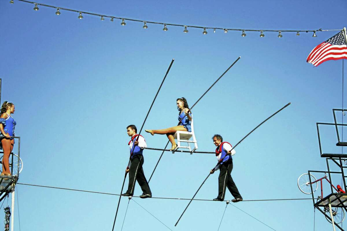 The Flying Wallendas are the main attraction of the yearly Guilford Fair Family Circus.