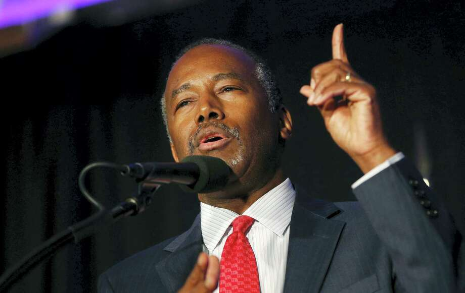 In this Aug. 25, 2016 photo, former Republican presidential candidate Dr. Ben Carson speaks before Republican presidential candidate Donald Trump's arrival at a campaign rally in Manchester, N.H. President-elect Donald Trump chose Carson to become secretary of the Department of Housing and Urban Development. Photo: AP Photo/Gerald Herbert, File   / Copyright 2016 The Associated Press. All rights reserved. This material may not be published, broadcast, rewritten or redistribu