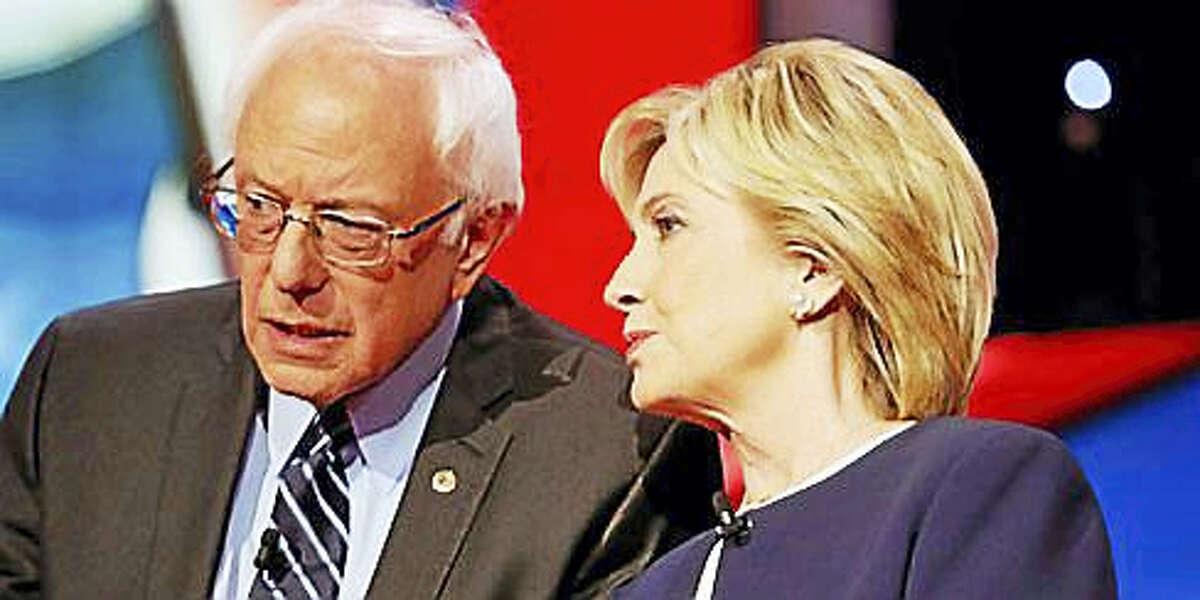 U.S. Sen. Bernie Sanders and former U.S. Secretary of State Hillary Clinton