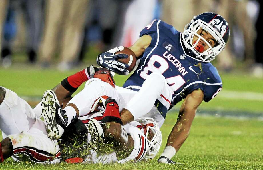 UConn wide receiver Brian Lemelle (84). Photo: The Associated Press File Photo   / AP