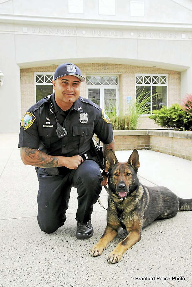 Officer Luigi Amasino and K-9 Joker Photo: Photo Courtesy Branford PD