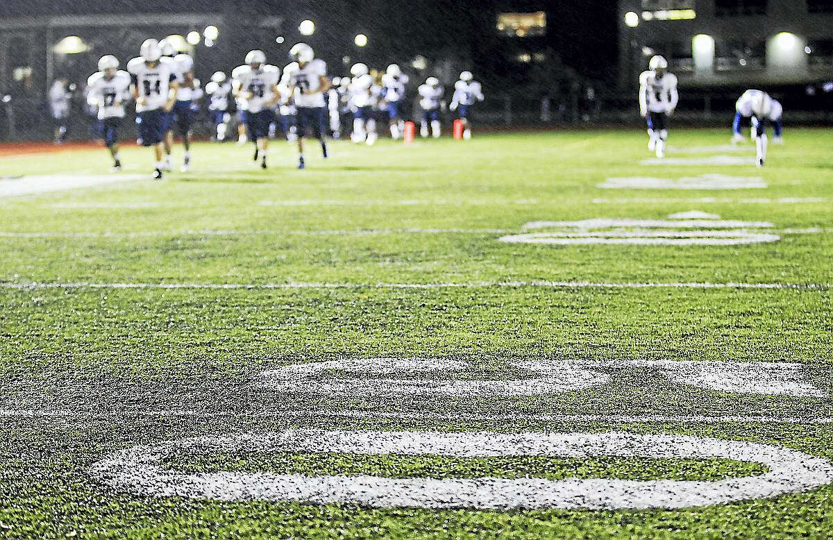 This photo shows a Duraspine turf field in Highland Park, N.J.