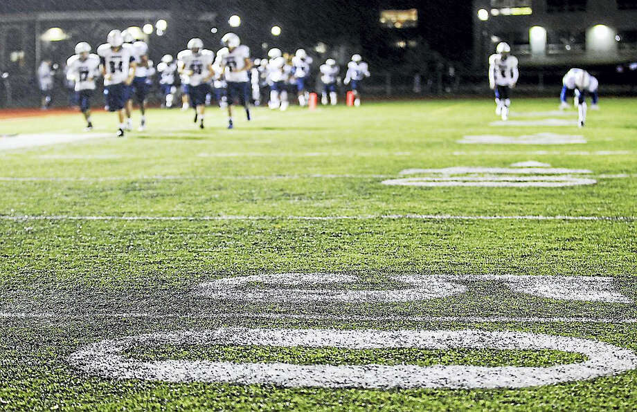 This photo shows a Duraspine turf field in Highland Park, N.J. Photo: Andrew Mills — NJ Advance Media Via AP   / NJ Advance Media
