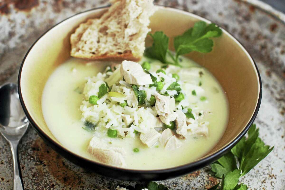 Avgolemono, a Greek chicken and rice soup, gets a rich thickness from eggs that are tempered, then whisked into the hot broth, creating a delicious counterpoint to the fresh flavor of the lemon juice.