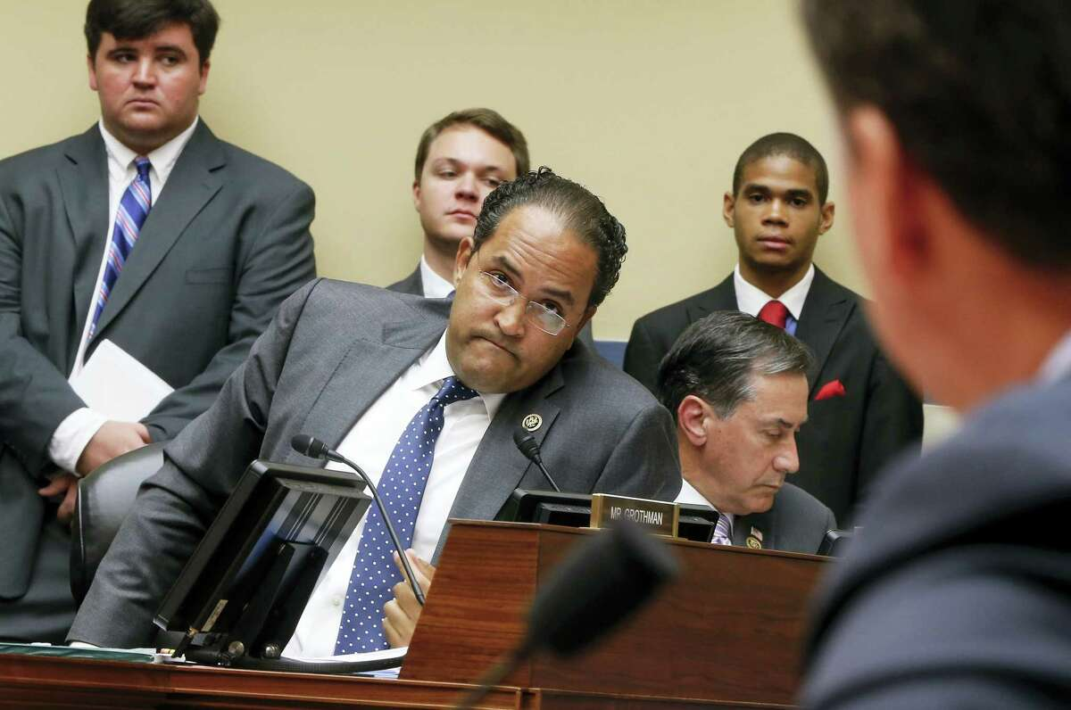 House Oversight and Government Reform Committee member Rep. Will Hurd, R-Texas, questions FBI Director James Comey on Capitol Hill in Washington, Thursday, July 7, 2016, during the committee's hearing to explain his agency's recommendation to not prosecute Democratic presidential candidate Hillary Clinton over her private email setup during her time as secretary of state.