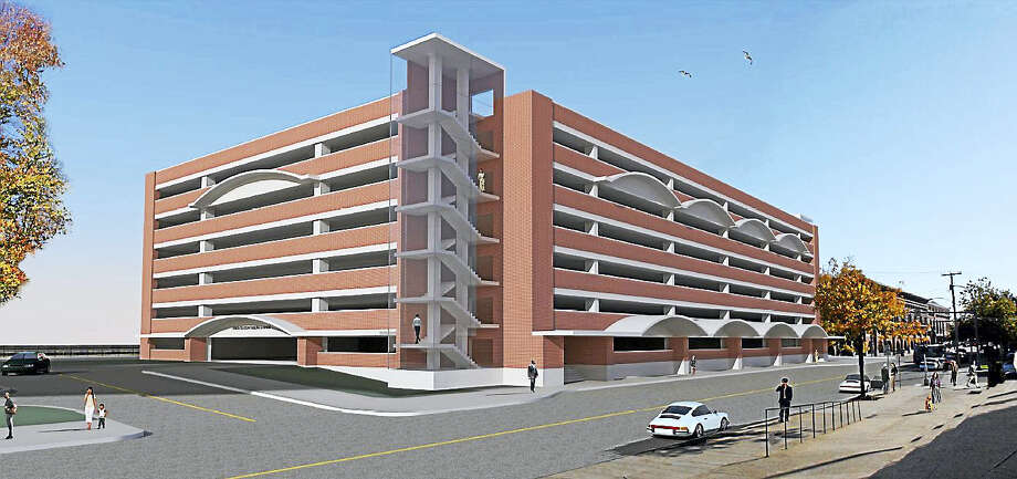 Rendition provided by the state Department of Transportation of the proposed new garage at New Haven's Union Station, as it looked in June. The DOT said it is likely to be tweaked as the agency is seeking input from the city. Photo: Digital First Media