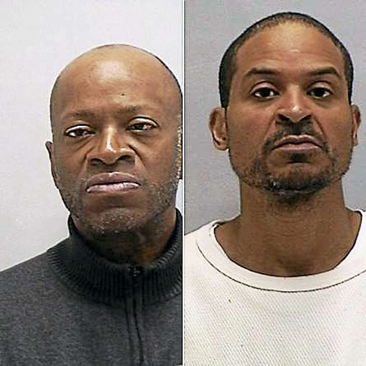 Orange police arrested Franklin Wells (left) and Pedro Veira (right) in connection with a November 22, 2016 theft at Burlington Coat Factory on the Boston Post Road.
