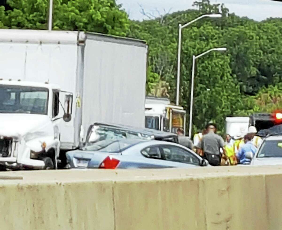 Traffic on Interstate 95 was backed up for miles after a multi-vehicle crash that left a 12-year-old girl seriously hurt.