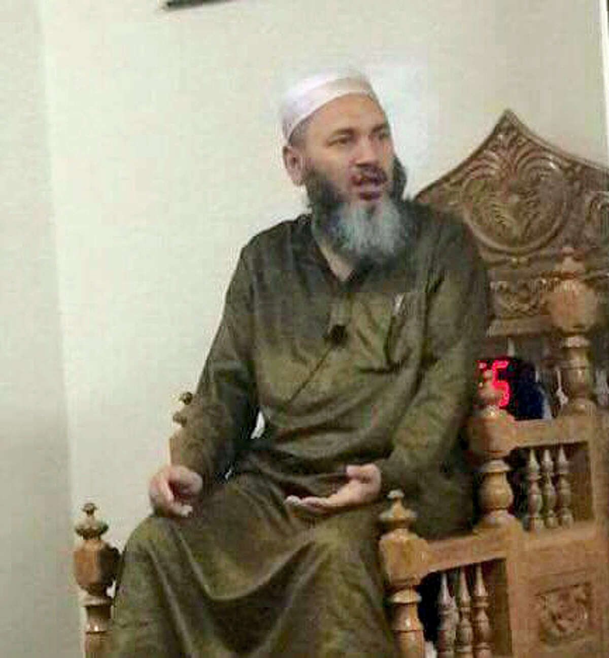 This undated photo provided by Abdul Chowdhury, Imam Maulama Akonjee is shown. Akonjee and another man died in a fatal shooting Saturday, Aug. 13, 2016, as they left the Al-Furqan Jame Masjid mosque in the Queens borough of New York after prayers. Police say that motive has yet to be determined.