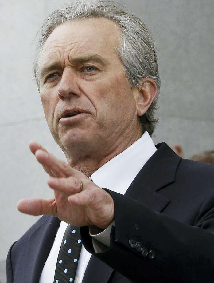 Robert Kennedy Jr., son of former U.S. Attorney Gen. Robert Kennedy, speaks last year during a rally at the Capitol in Sacramento, Calif. In a new book released Tuesday, July 12, 2016, Kennedy argues that his cousin Michael Skakel is innocent of murdering his neighbor Martha Moxley in 1975 when they both were 15. Skakel was convicted in 2002 and sentenced to 20 years to life in prison. Photo: AP Photo — Rich Pedroncelli, File / Copyright 2016 The Associated Press. All rights reserved. This material may not be published, broadcast, rewritten or redistribu
