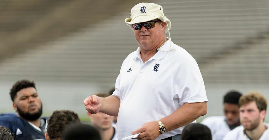 """""""We want our guys to know they too live very public lives and then we expect them to live by the golden rule,"""" David Bailiff said at Sunday's Division I Coaches Panel to kick off the Texas High School Coaches Association Convention in Houston. Photo: Wilf Thorne/For The Chronicle"""