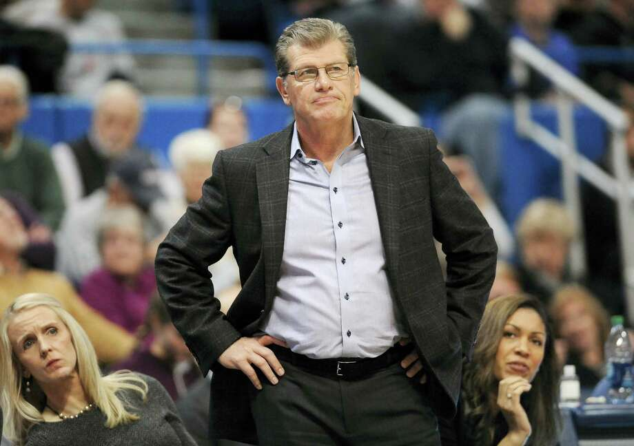 Coach Geno Auriemma and the UConn women's basketball team will take on No. 14 Texas on Sunday. Photo: Jessica Hill — The Associated Press File Photo   / AP2016