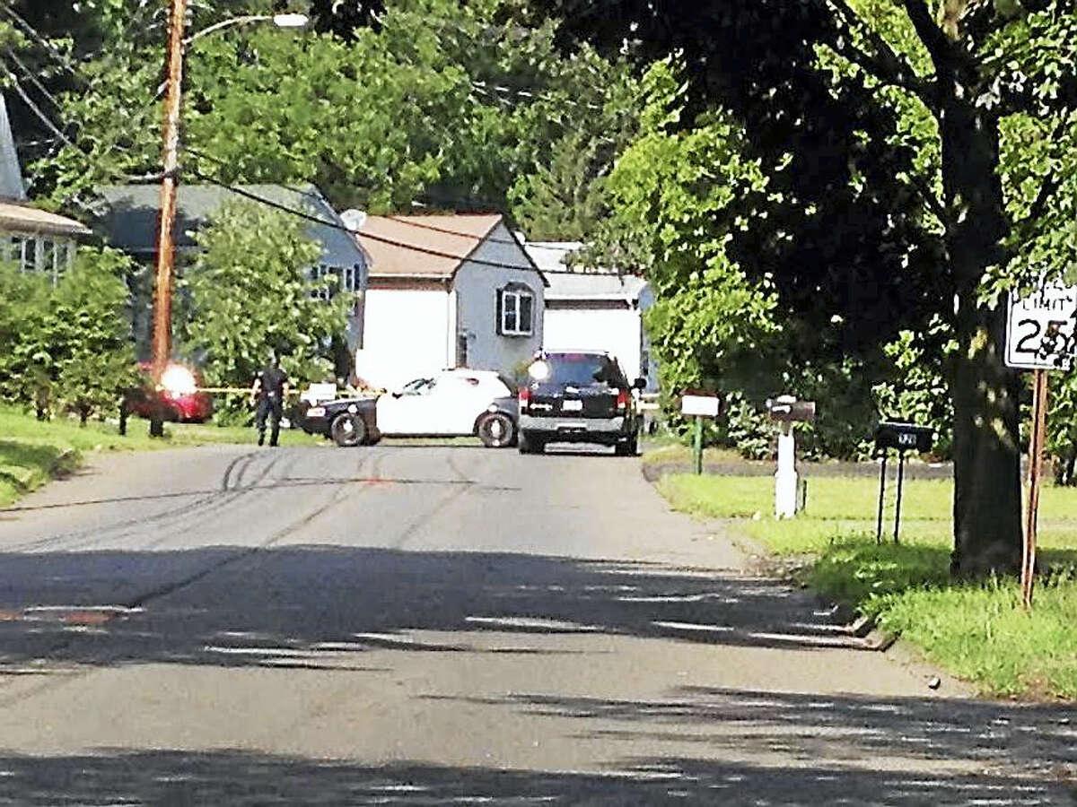 West Haven police on the scene on West Spring Street near Greta Street Thursday.