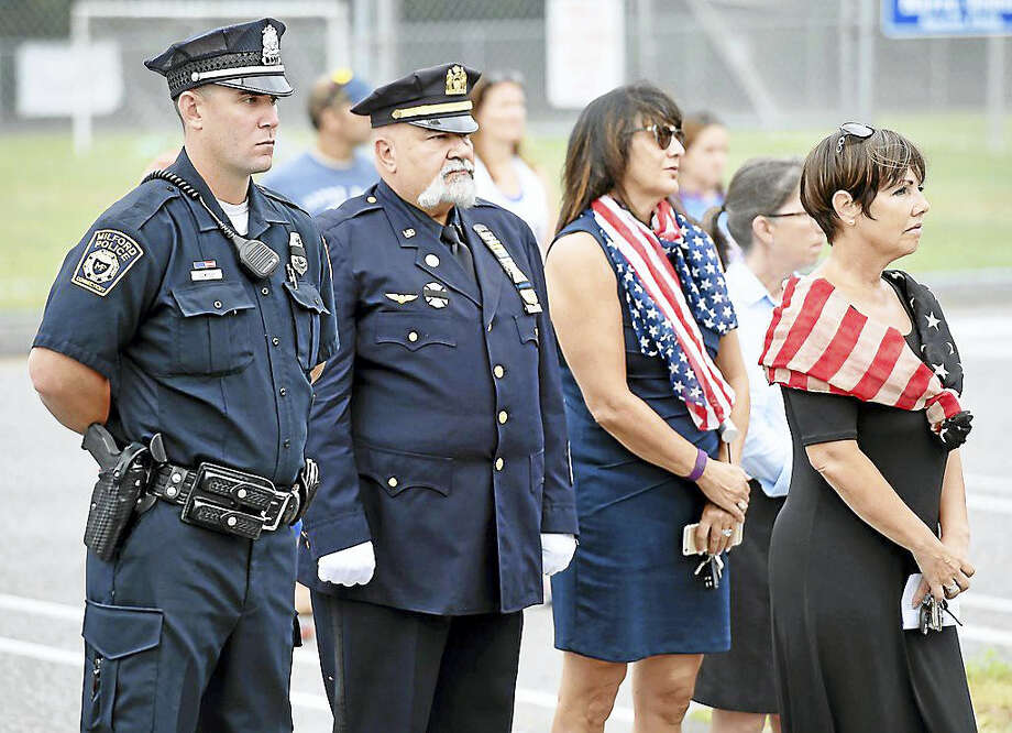 The September 11th Remembrance Ceremony at the Woodruff Family YMCA in Milford on Sunday, Sept. 11, 2016. Photo: Photo By Arnold Gold/New Haven Register