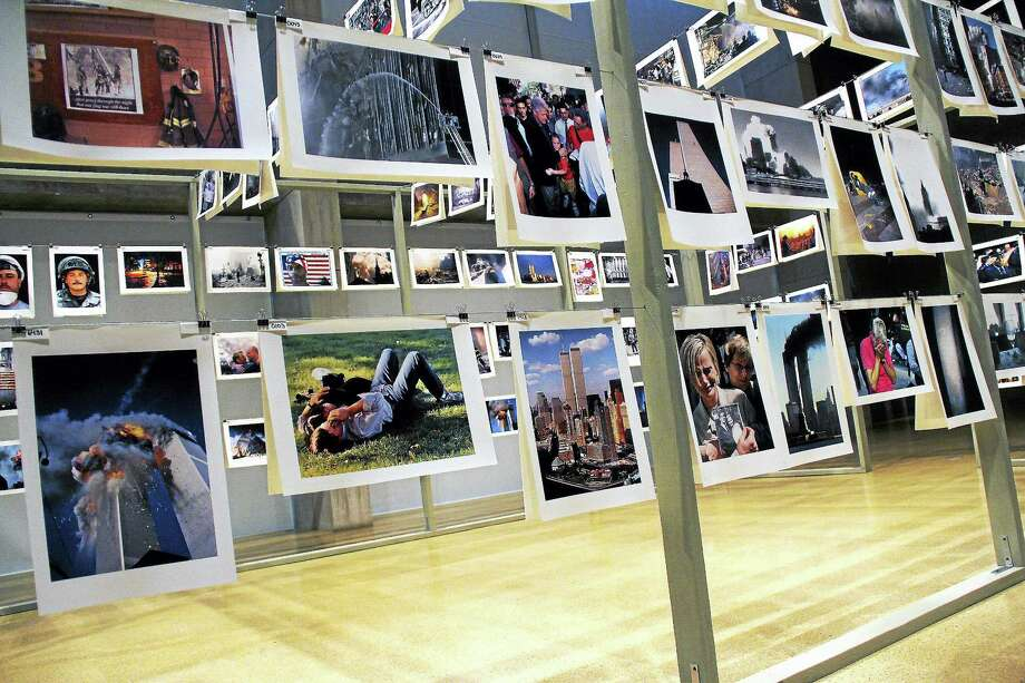 """""""Here is New York: A Democracy of Photographs"""" is an exhibition made in response to the events of Sept. 11, 2001. Photo: Kathleen Schassler — The Middletown Press   / Kathleen Schassler All Rights"""