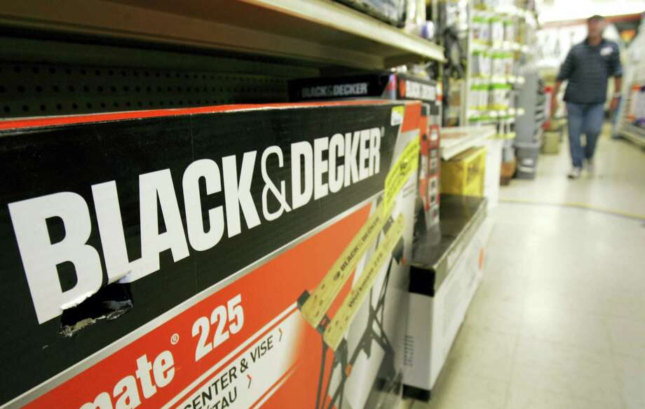 In this Nov. 3, 2009 photo, a Black & Decker Workmate bench is displayed at a store in Little Rock, Ark. Tool company Stanley Black & Decker Inc. announced Oct. 12, 2016 it is buying Newell Brands' tools division. Photo: AP Photo/Danny Johnston, File   / Copyright 2016 The Associated Press. All rights reserved.